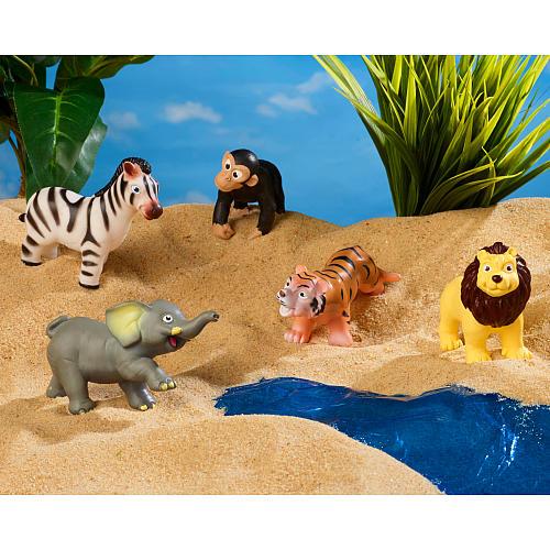 Wild Animal Entry Set   Washable wild animals - set of 5