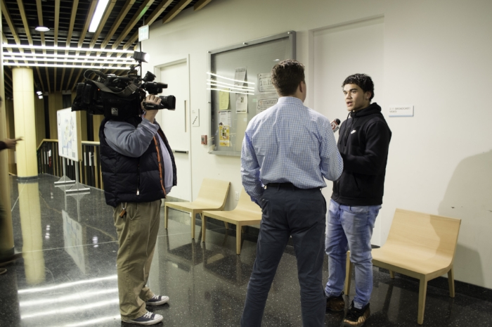 After sharing his testimony at a Boston Public School committee meeting, Yoskar M. was interviewed by local Boston news to share his insights.