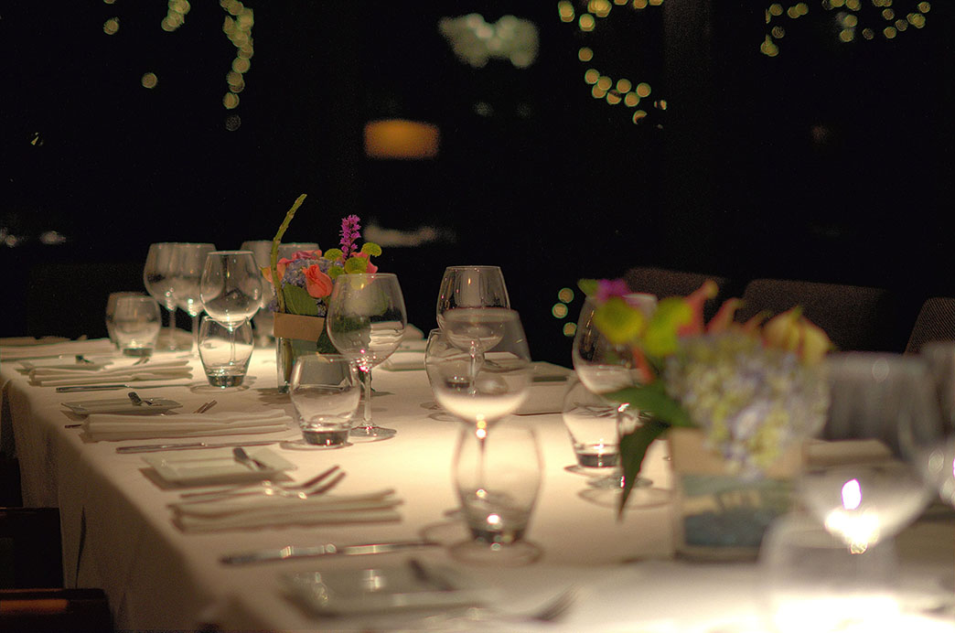 Private Dining Table Setting