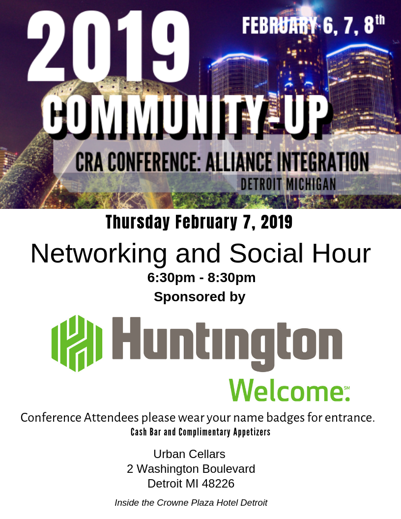 Thank to our Networking Sponsor  Huntington Bank!