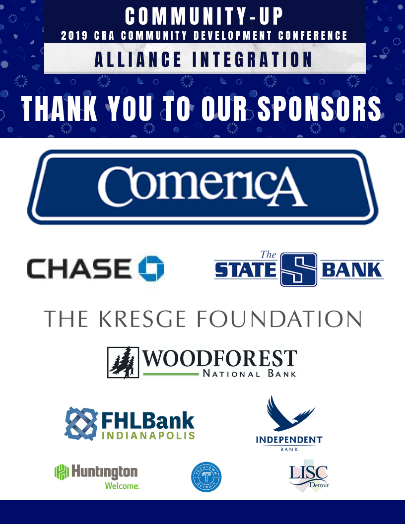 Special Thanks to Comerica Bank our Gold Sponsor -