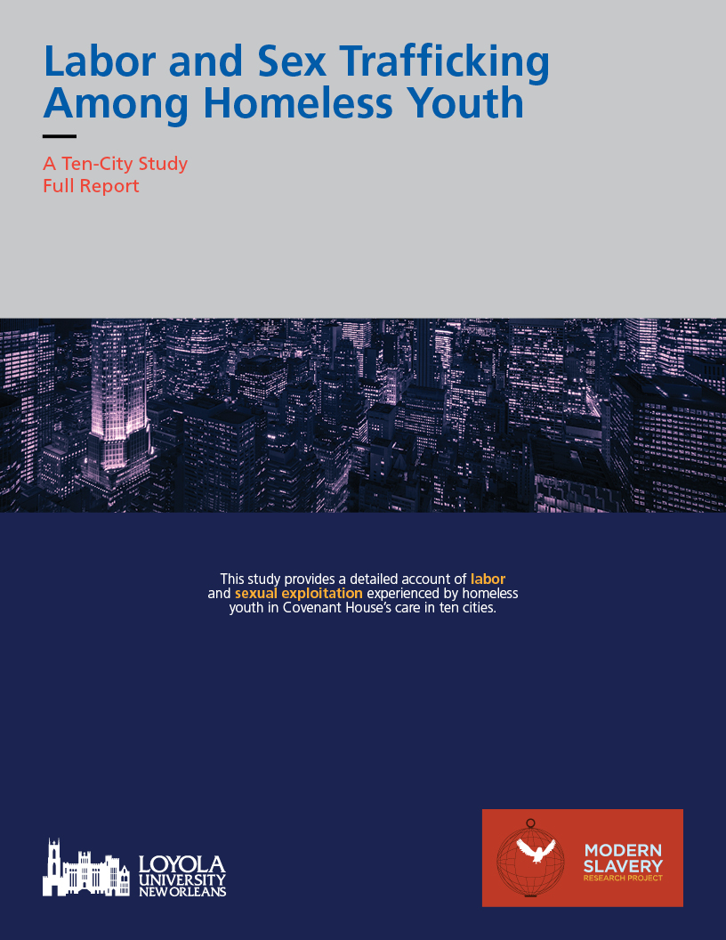 OUR LATEST REPORT: HOMELESSNESS AND TRAFFICKING in the U.S. and Canada - In partnership with Covenant House International, MSRP interview over 640 homeless youth to better understand the prevalence of trafficking among that population and the common factors in their lives that foster vulnerability. The report provides critical recommendations for service providers and legislators for how to improve youth resilience and provide better protections for our most vulnerable populations. Read the full report here.
