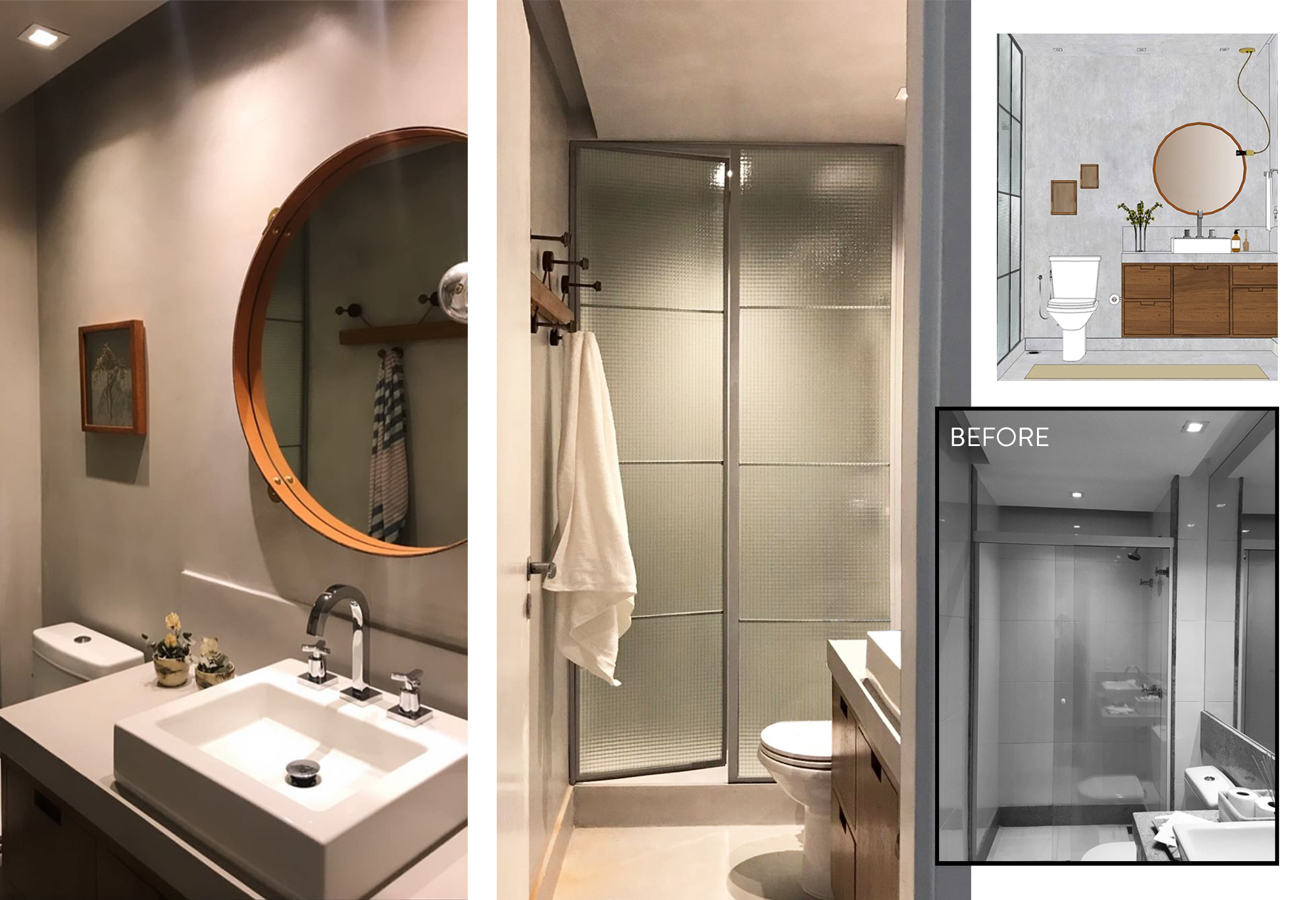 Guest Bathroom - Before and After| Garimporio's Client