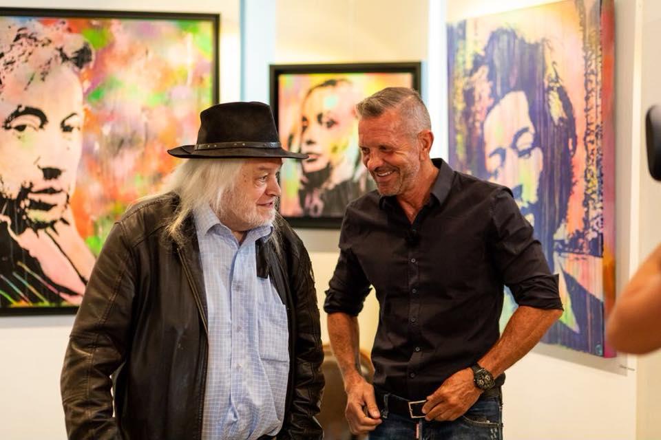 Jean Pierre Van Rossem and Peter Boeckx (VIER TV) at Expo Brasschaat. Photo by Frederick Van Grootel