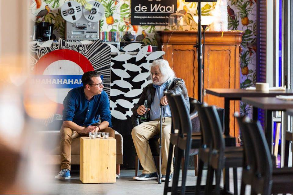 Jean Pierre Van Rossem and Olivier Ameye at Expo Brasschaat. Photo Frederick Van Grootel