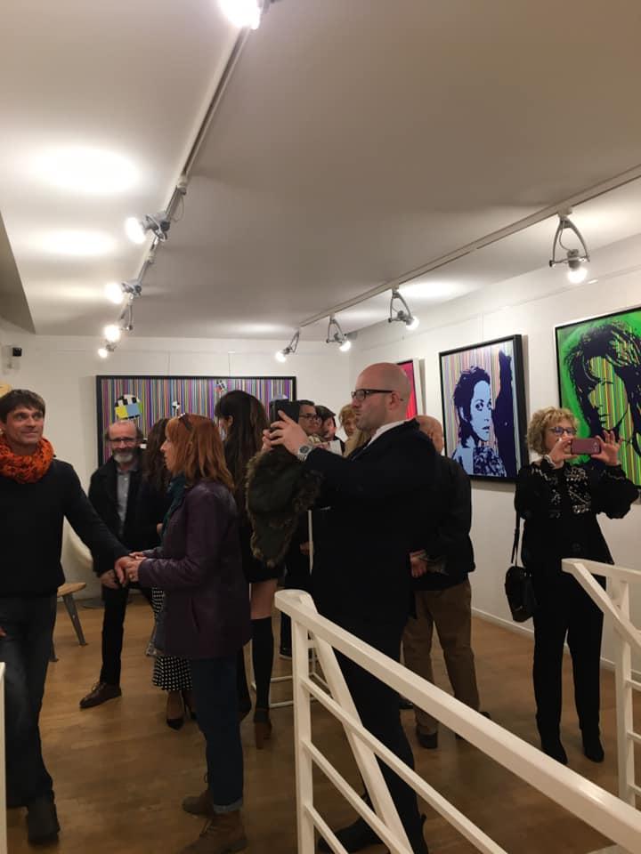 Vernissage Galerie Sonia Monti. Paris 8.