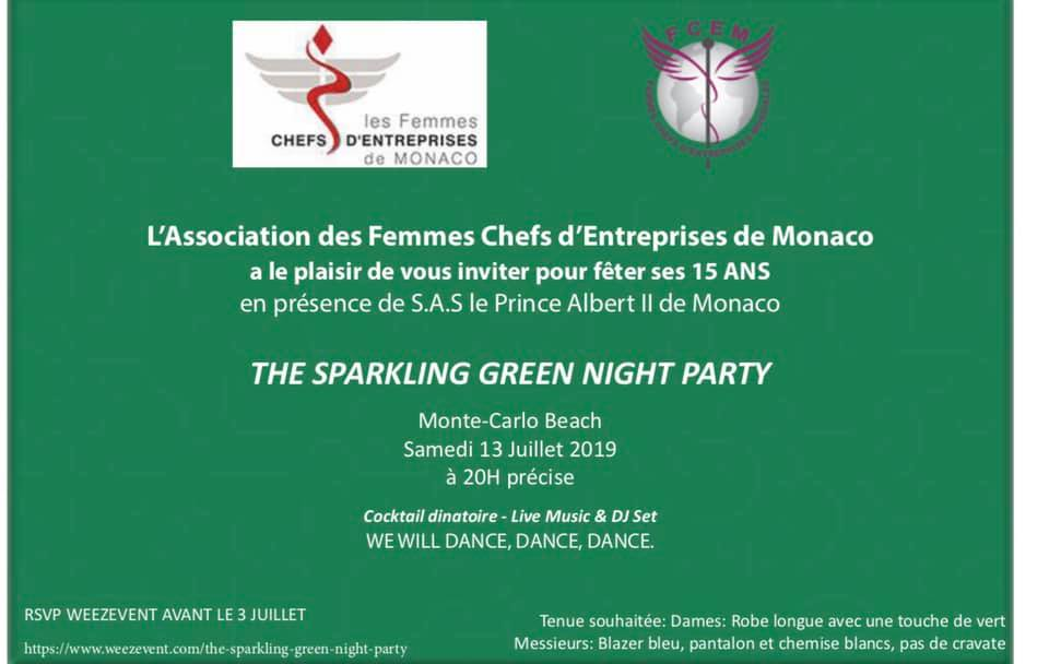 Pop up Expo at The Sparkling Green Night Party, Monte Carlo in the presence of HSH Prince Albert II of MONACO
