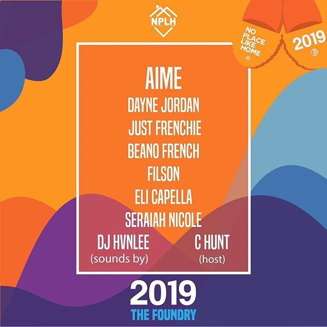I'm fresh off vacay so now it's time to get back to work. Proud to announce that I'll be sharing the stage with @daynejordan3d @beanofrench @justfrenchie @seraiahnicole @elicapella9 @filsonmusic @djhvnlee and @chunt3d for No Place Like Home at The Foundry on August 17th! Tickets are only $4 for a limited time if you use my promo code FSDY after hitting the link in my bio. This is gonna be a huge night in the city, can't wait to see y'all there. #NPLH #FSDY #AimeUp