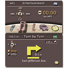 JEEP    SAFETY ERGONOMICS    Interactive GUI for center console.