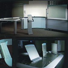 APPLE    ERGONOMICS FOR COMMUNICATION   Complete computer mergence with interactive furniture workstation.