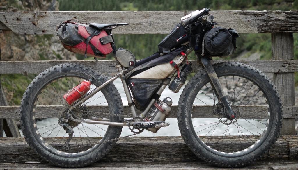 Joe Cruz uses his Treeline for bikepacking the world. Here his Treeline is in Kyrgyzstan. Photo by Joe Cruz.