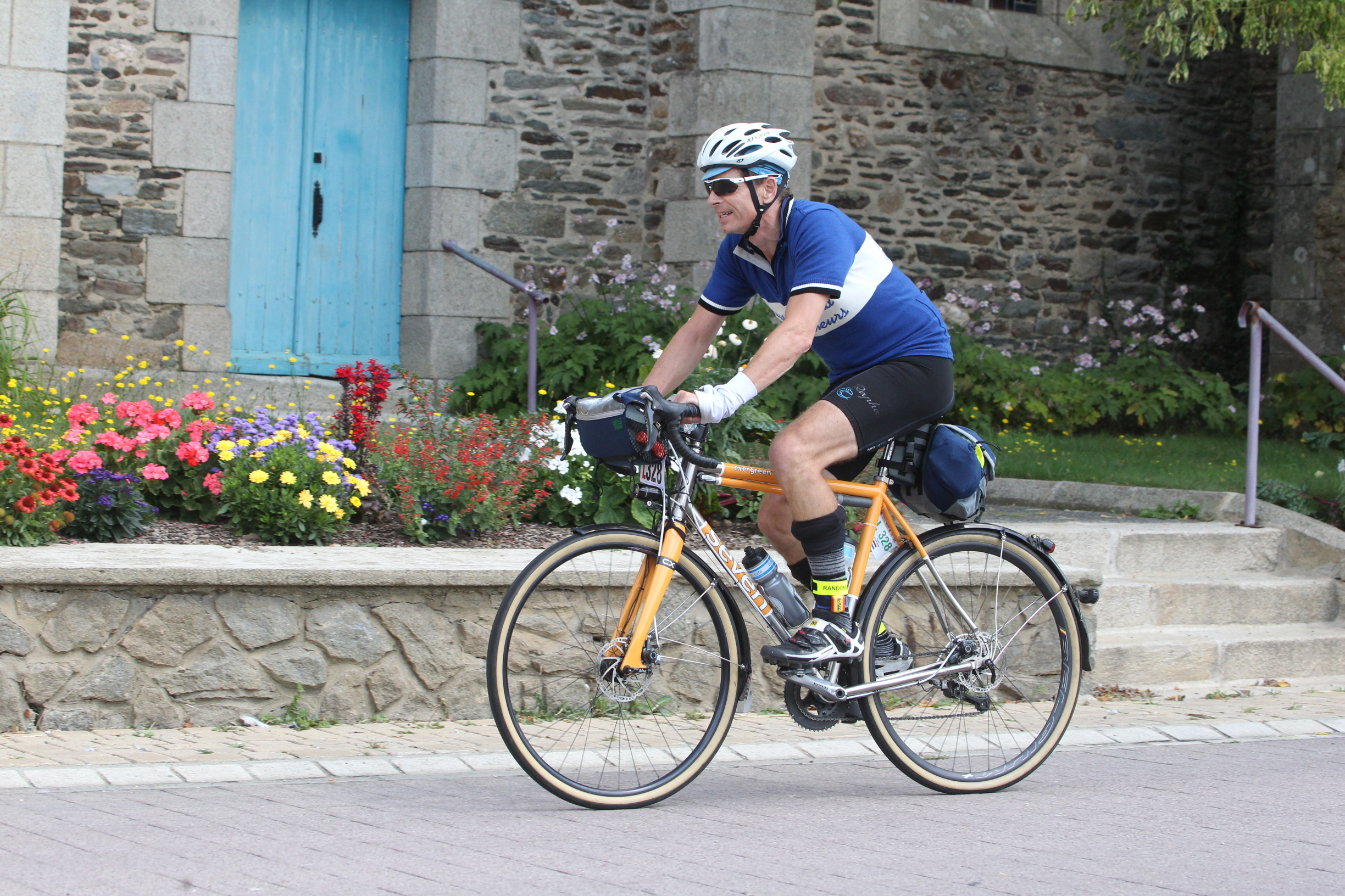 Henry on course during the Paris-Brest-Paris 2016