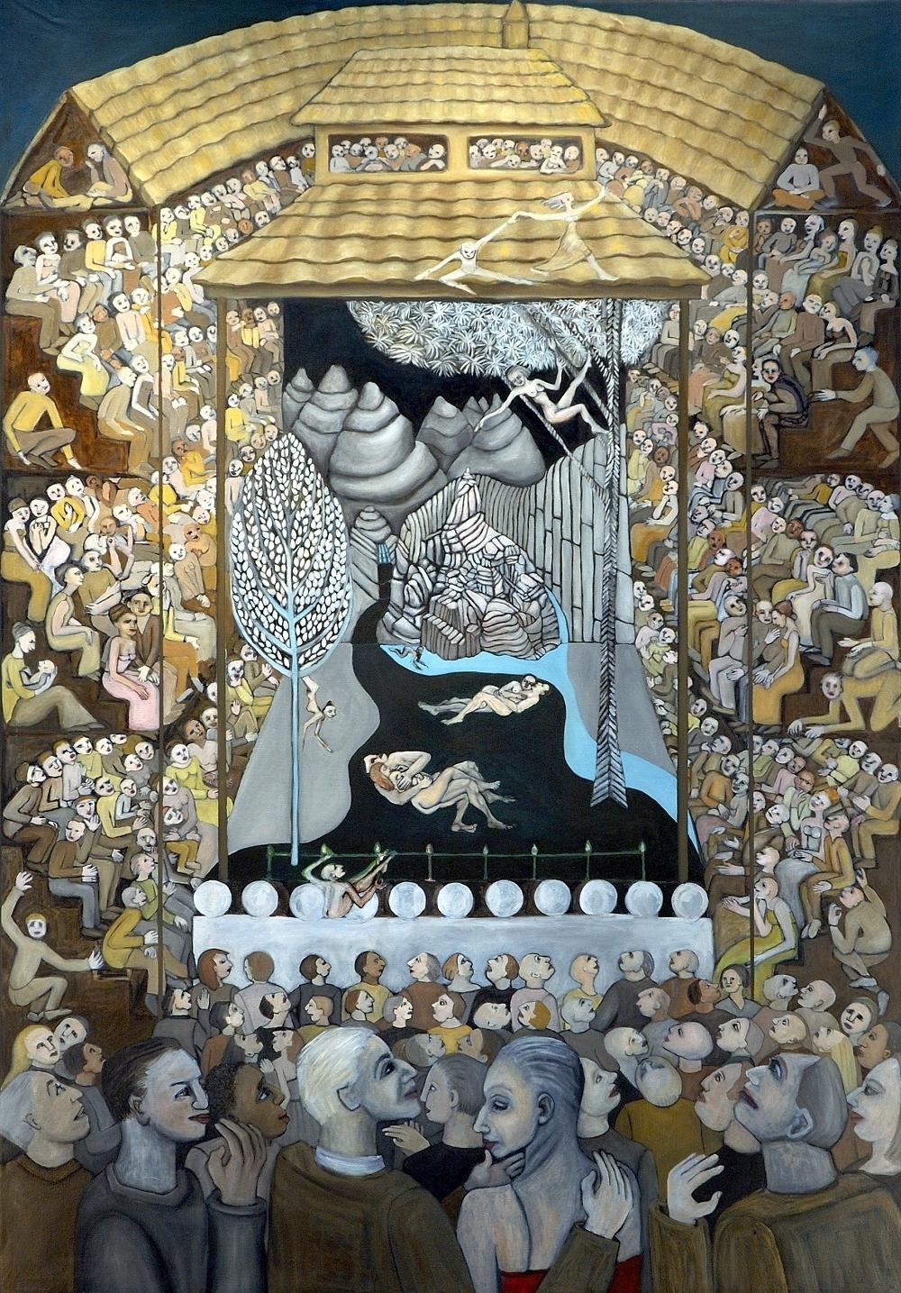 A Midsummer Night's Dream, 6 ft x 4 ft, 182.88 cm x 121.92 cm, oil on linen.