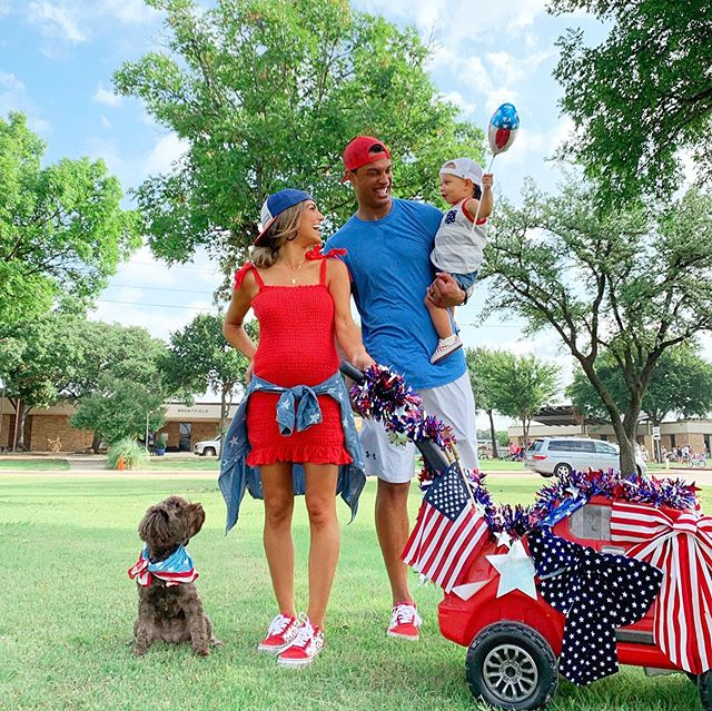 Pulled up to the neighborhood parade and we were the most extra family there 🤣. Matching shoes and all... but I can't help it!!! 😂🥰 Happy 4th of July, y'all! 🇺🇸 #herecomethenelsons