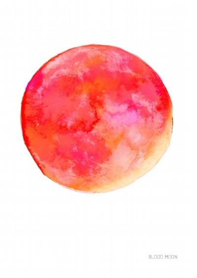 Blood Moon Art Print July 2018