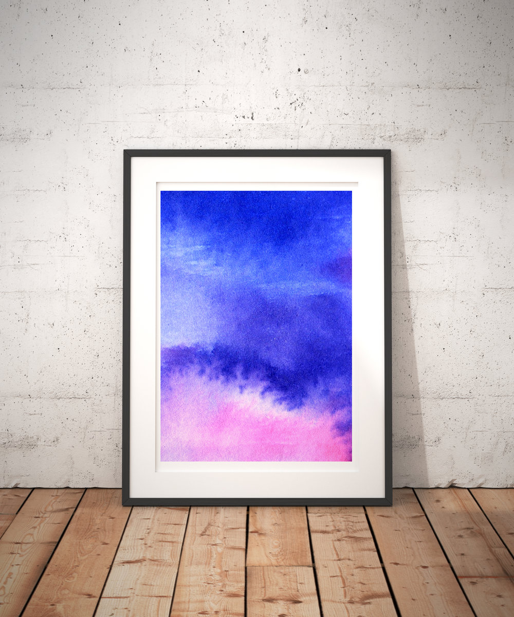 Pink+Blue+Abstract+Framed+Watercolour+Art+Print+by+Drawn+Together+Art+Collective.jpg
