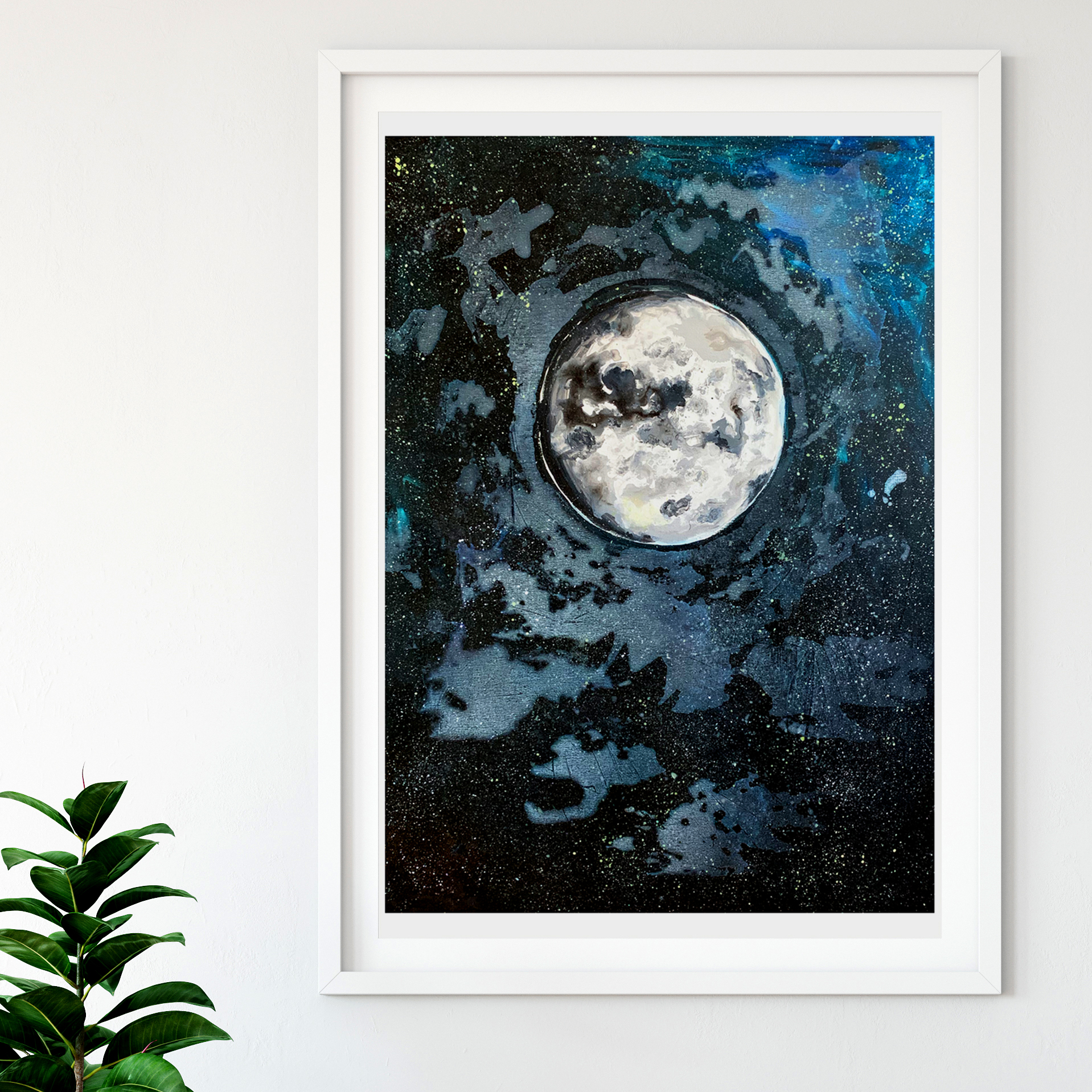 Dramatic Moon Painting white Frame.jpg