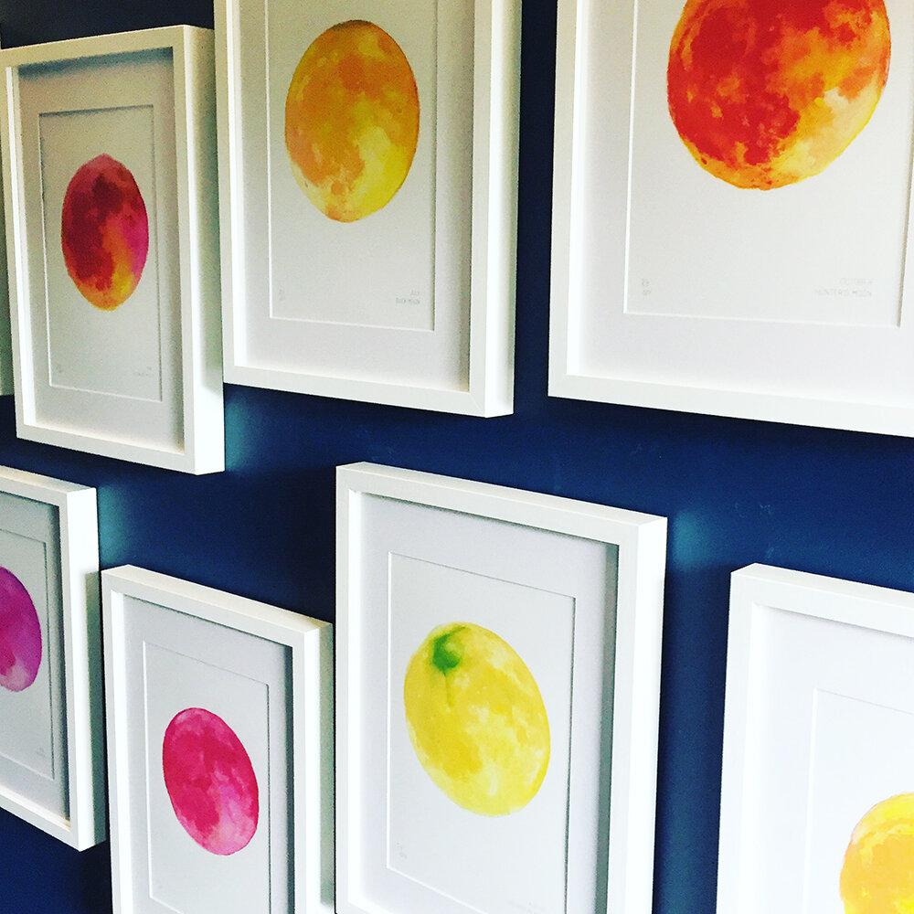 Full Moon Art Prints Autumn Offer Drawn Together Art Collective Art Prints London