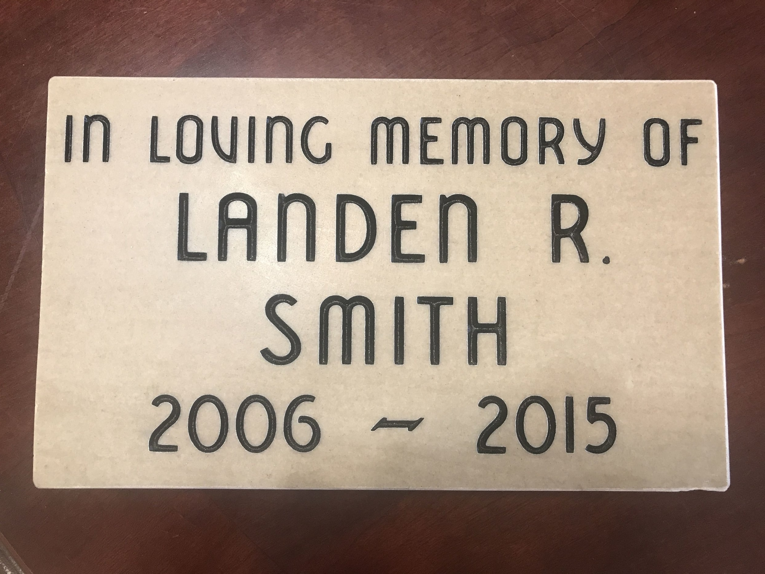 Dedication Engraved Memorial - High School.jpg