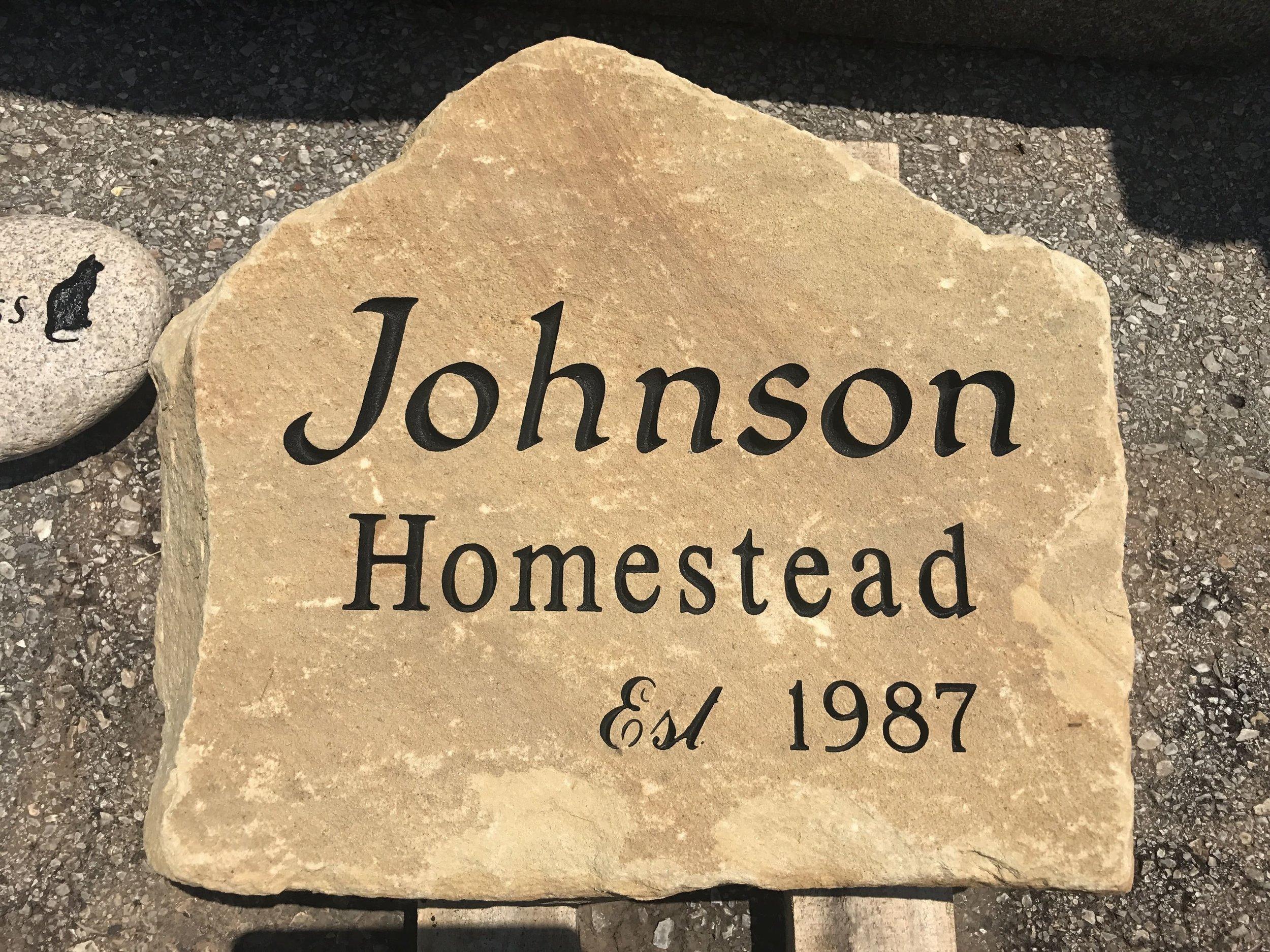 Homestead Engraved - Limestone Sign.jpg