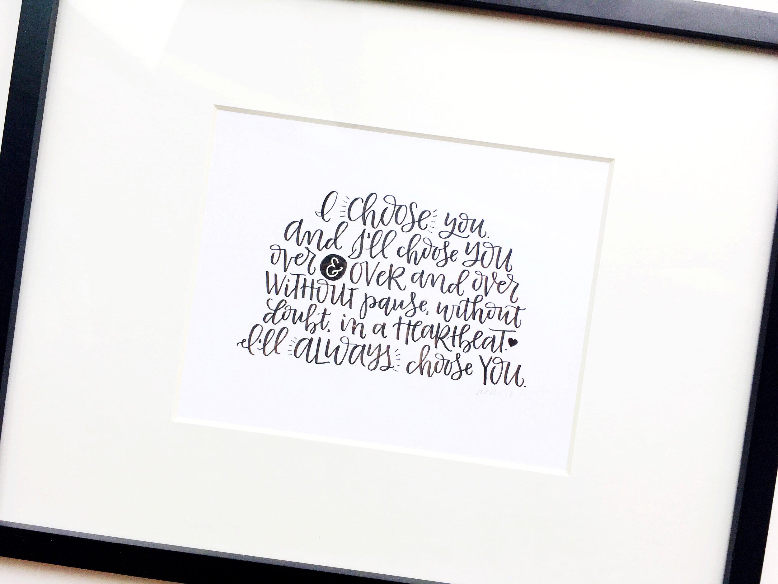 Custom Hand Lettered Art Print | alexandra em. lettering + design