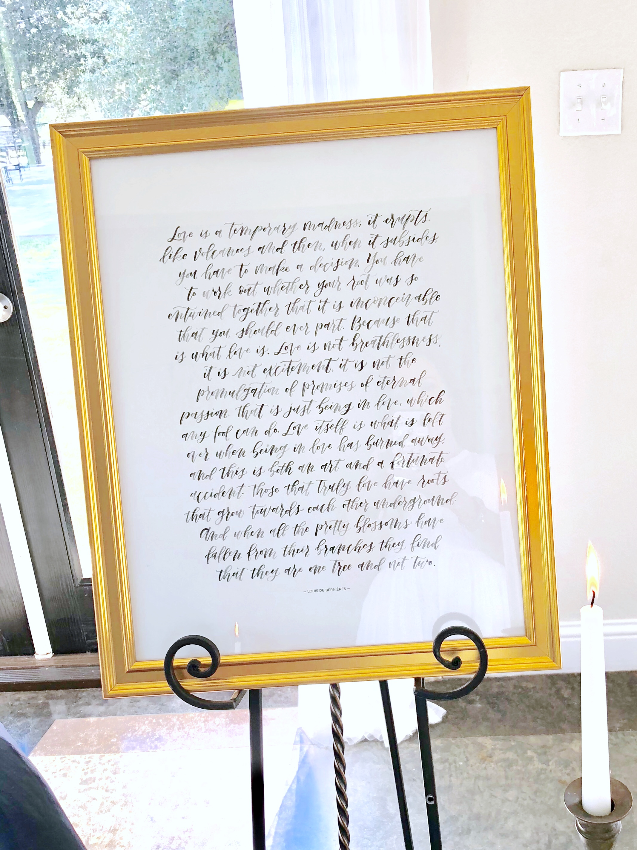 Custom Watercolor Wedding Print | alexandra em. lettering+ design