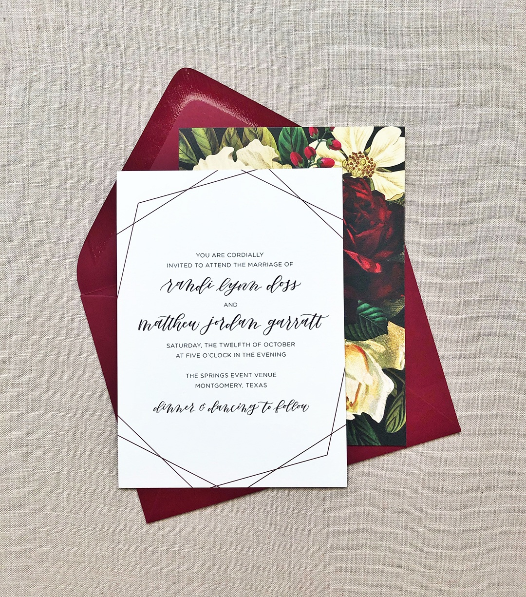Custom Wedding Invitation Suite | alexandra em. lettering + design