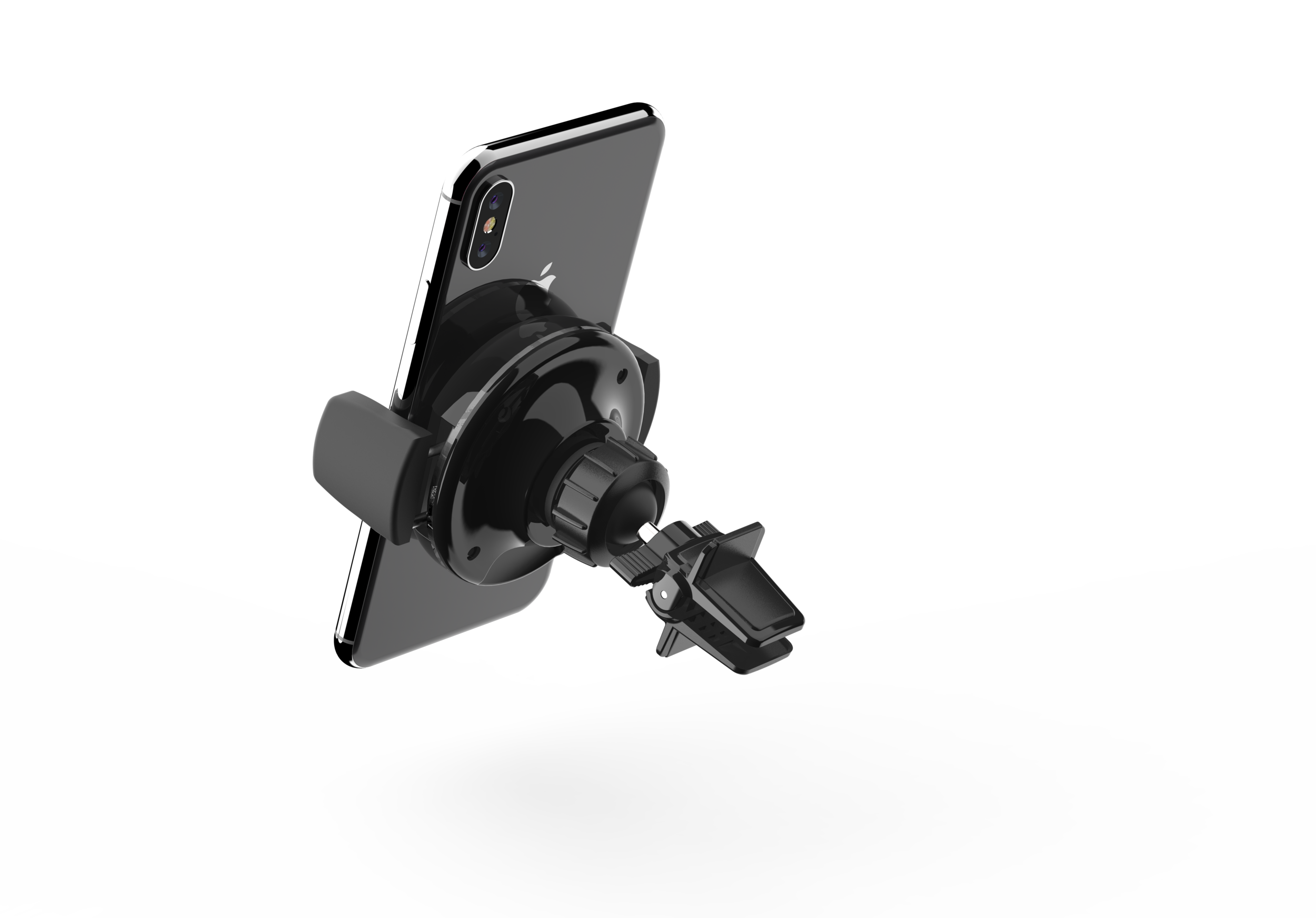 MIC-QI002 5W Wireless Charger Air Vent Car Mount - BLACK Back angle.63.png