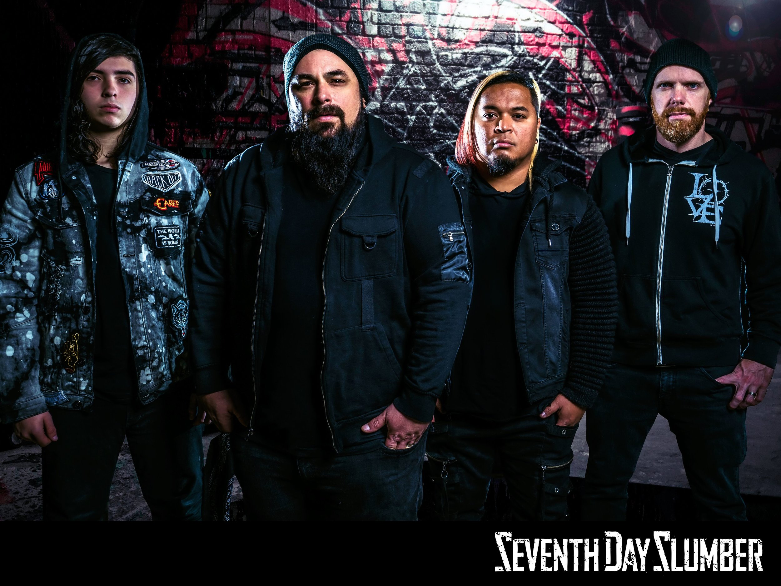 """SEVENTH DAY SLUMBER Among an elite group of bands who have dominated and shaped the Christian rock scene for more than two decades, Seventh Day Slumber remains a consistent force on Christian CHR and rock radio. They've sold a combined total of nearly 500,000 units to date; charted two Billboard #1 albums; five #1 singles; 14 Top 10 hits; and garnered a Dove Award. Joseph Rojas and his bandmates--Jeremy Holderfield (guitar); son Blaise Rojas (drums); and friend Ken Reed (bass)--are known for a string of signature songs, including """"Oceans From The Rain,"""" """"Inside Out,"""" """"Caroline,"""" """"Finally Awake"""" """"We Are The Broken"""" and """"Wasted Life.  THE STORY Seventh Day Slumber frontman """"Joseph Rojas"""" gave his life to Jesus in the back of an ambulance after a suicide attempt, overdosing under the same roof where his praying mother daily fell to her knees on his behalf. Joseph's mile-long rap sheet and $400 a day cocaine habit left him nowhere to turn. God supernaturally showed up on the way to the hospital that night, touching Joseph's heart and changing his life forever."""