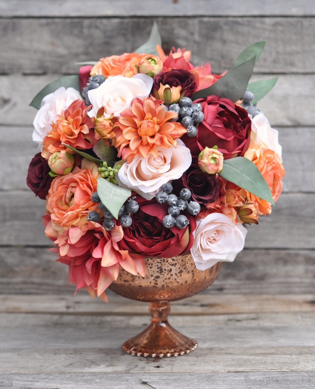 Fall bouquet in compote dish 1 - 1.jpg