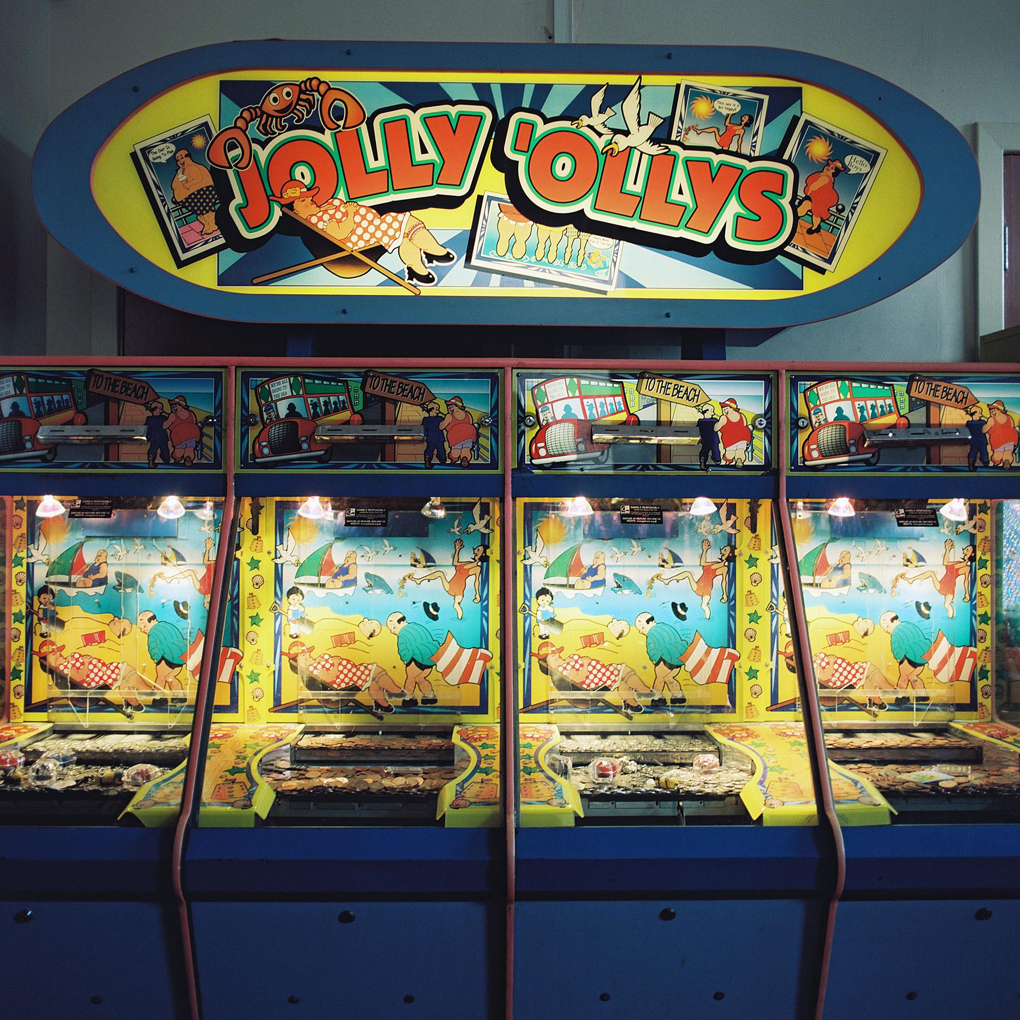 An amusement arcade at Pease Bay Leisure Park near Cockburnspath