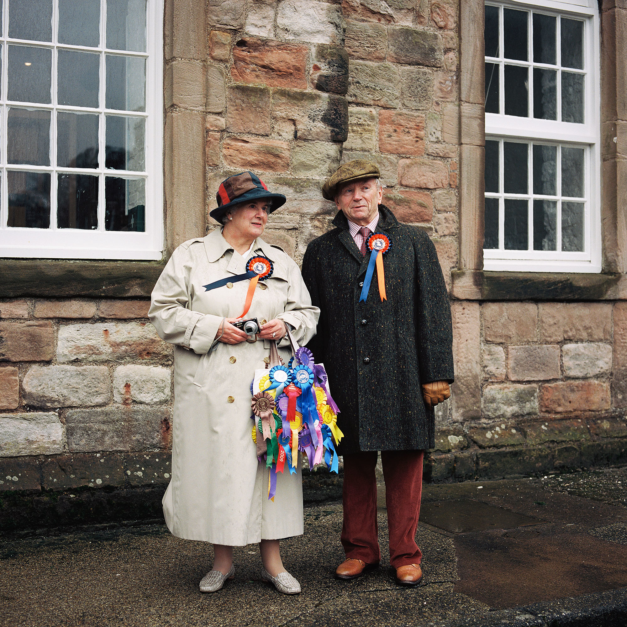 The former mayor of Berwick, Peter Herdman, and his wife Barbara at the Berwick Riding of the Bounds