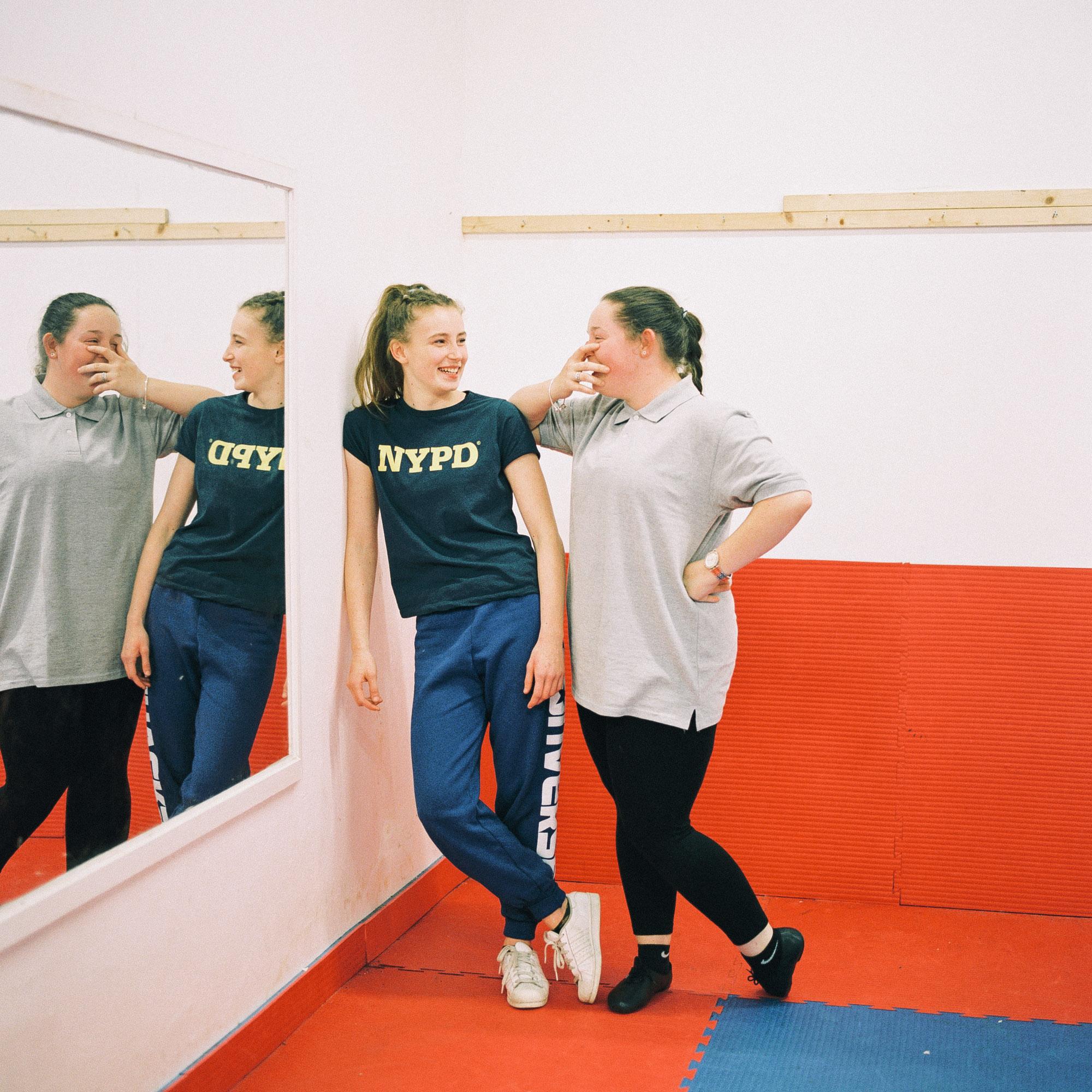 Abigail Collins and Demi Aldwinckle at Tilbury Dance Academy