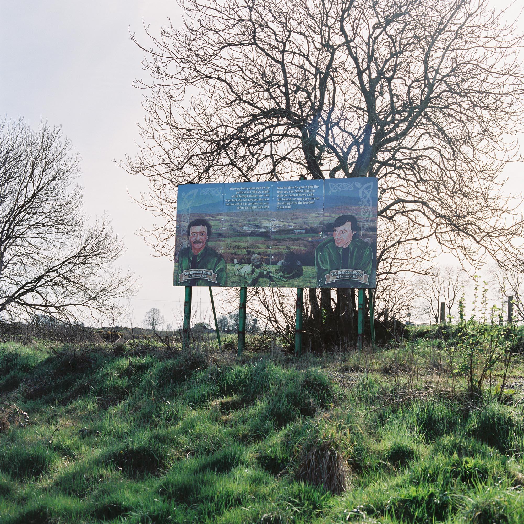 A mural in honour of IRA Volunteers Brendan Moley and Brendan Burns