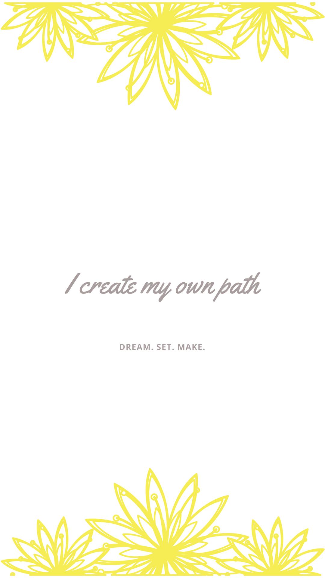 I create my own path.png