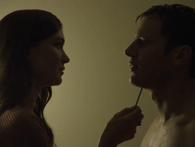 Violent sex play between Debbie and Holden -Mindhunter 2017 Netflix