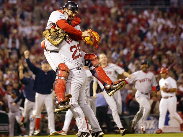 2004 World Series Tek-Foulke Hug.jpg