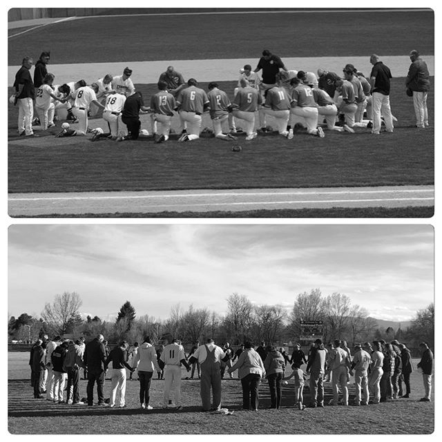 """The movement of the """"Around the Mound"""" prayer continues to grow across Colorado. To learn more about the movement and how to engage with others to spread the Gospel of Jesus in the Language of Baseball through a postgame prayer, click the link below!  https://completegameministries.org/bot9/2019/4/29/the-movement-of-around-the-mound"""