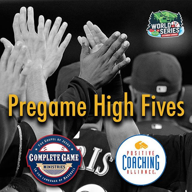 "Complete Game is proud to partner with @pca_colorado for the upcoming @tcsports Steamboat World Series the next two weekends. We are encouraging all of the teams in the tournament to connect before the game for a Pregame High Five. Seek to compete ""with"" your opponent and not ""against"" them! #positivecompetition #withnotagainst #loveisstrongerthanhate"