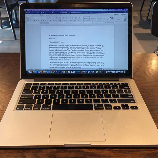 It is finished. The first draft of the second book of the #WellCoached series is complete. Now on to the work of editing, publishing, and making it ready to be seen. I'm so looking forward to sharing it! #tetelestai #ufo #freedom #perseverance #starting9