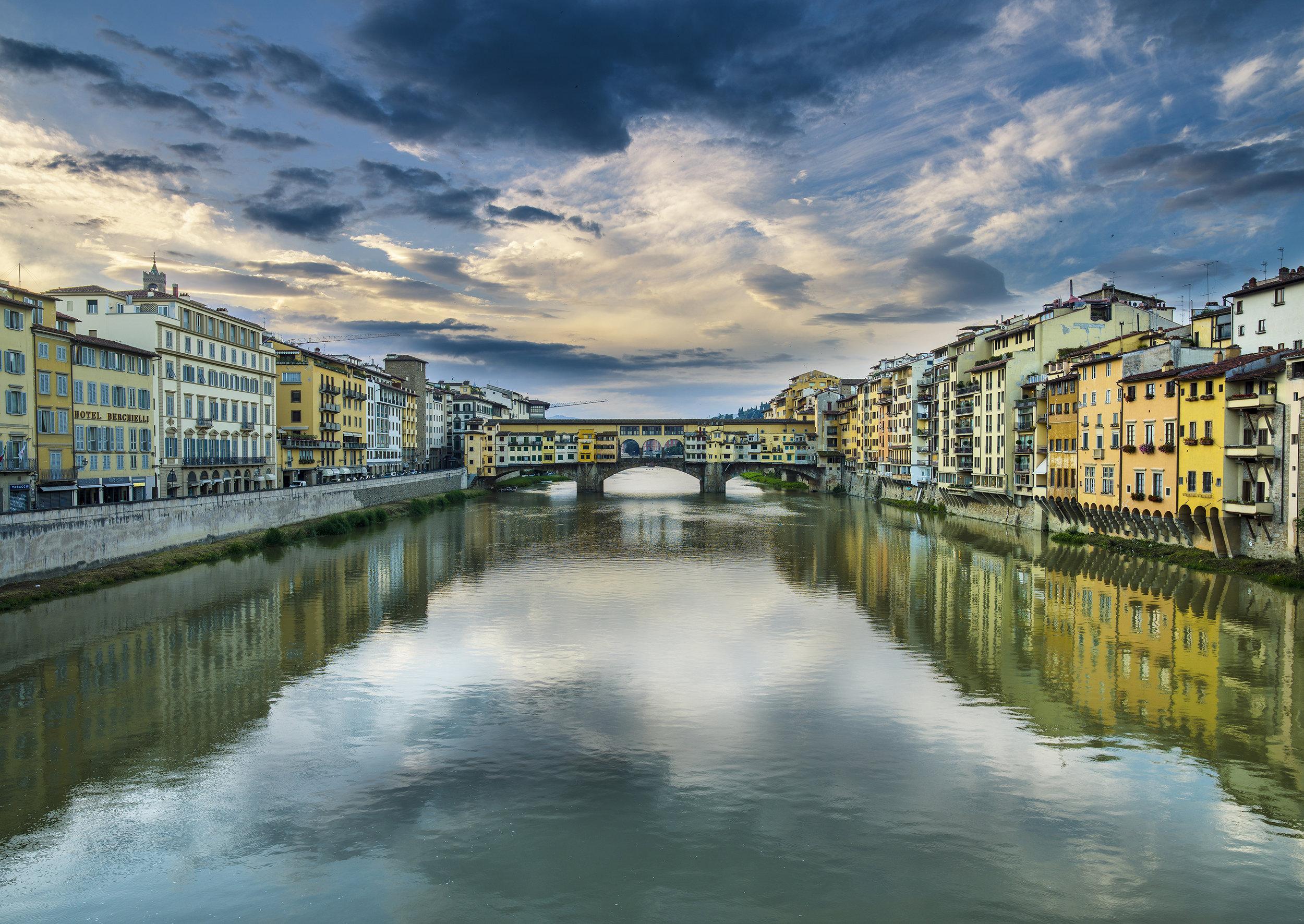 Italy, Arno and Ponte Vecchio. 2016