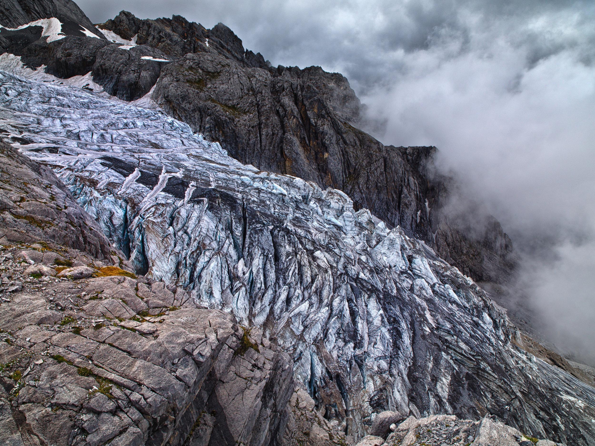 Shigatze glacier during summer. 2011