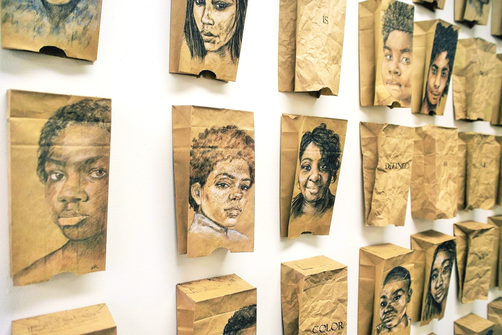 The Brown Paper Bag Test Series   The Brown Paper Bag Test series is in reference to the actual unscientific test that was given by African-Americans to assess privilege by skin tone.