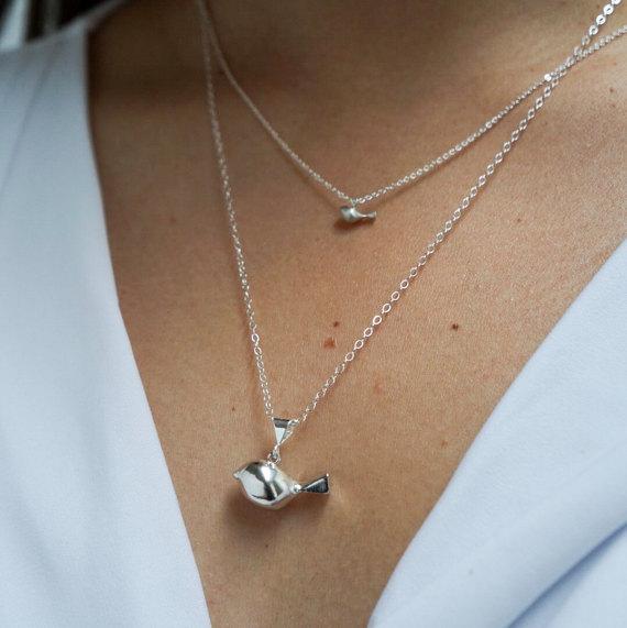 Tweet Trio of Birds necklace