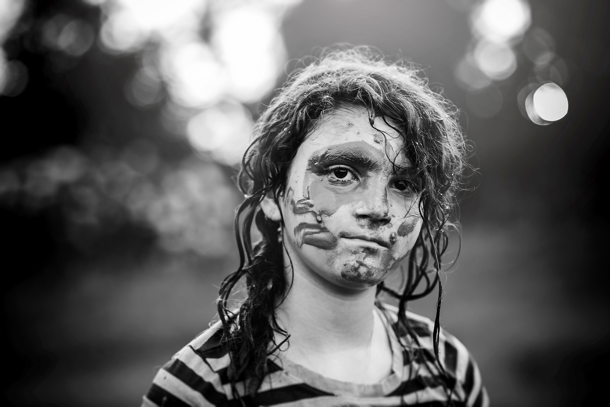 "Holly Awwad- ""Game Face""  85mm, ISO 400, f2.2 1/200"