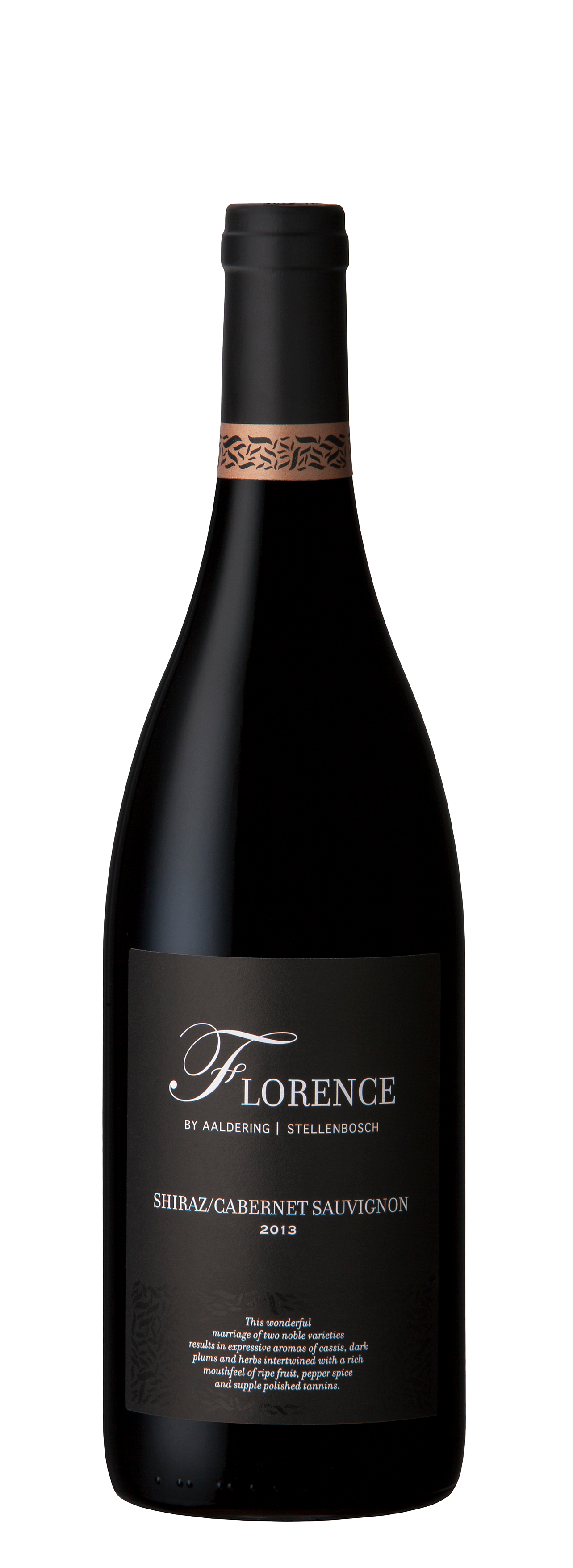 Florence Red Blend -  Varietal: Shiraz // Cabernet SauvignonVintage: 2013Wine Farm: Aaldering Vineyards
