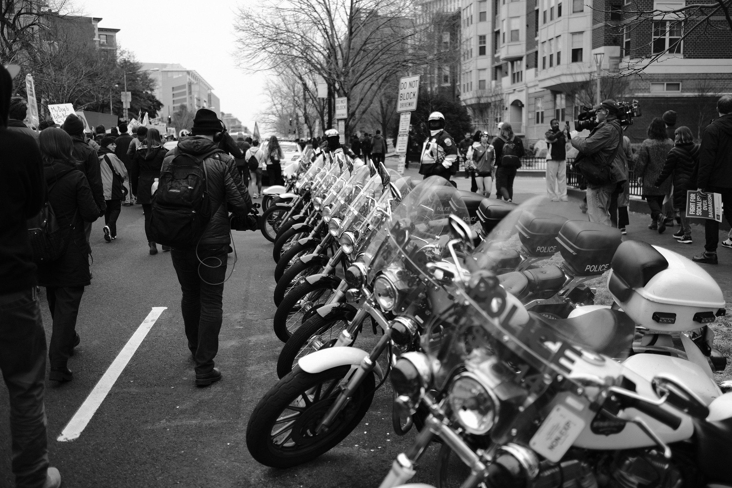 The police presence was heavy in D.C., but I was never searched or in fear for my equipment.
