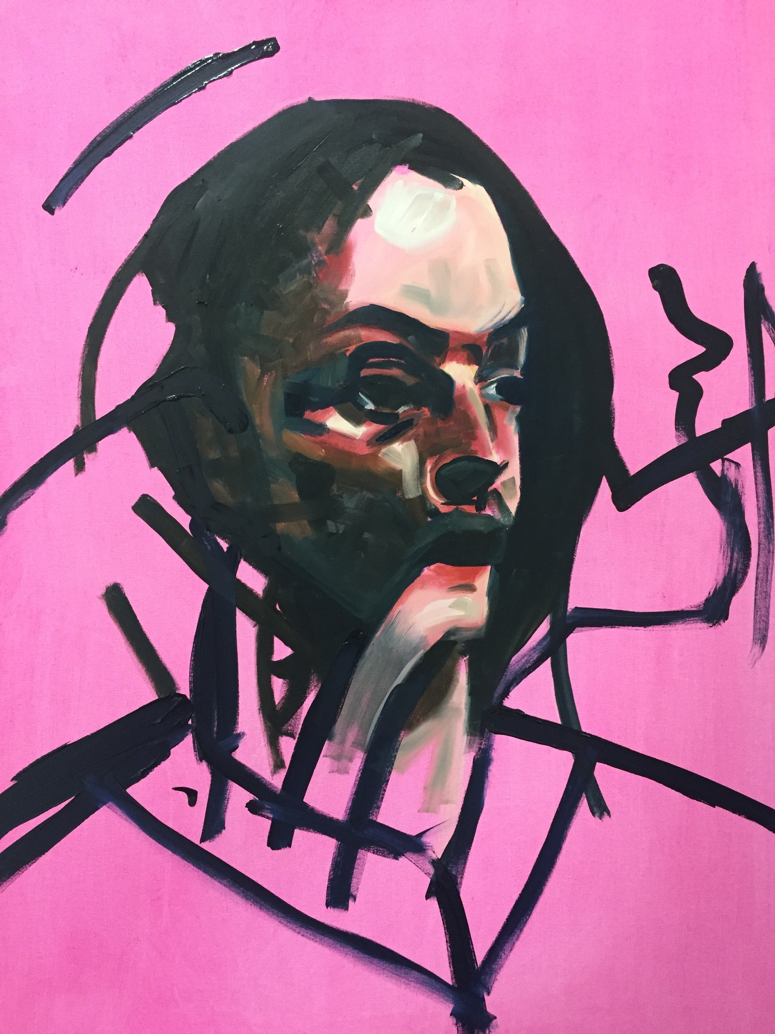 You left me beaten   50 x 60 cm / oil on canvas