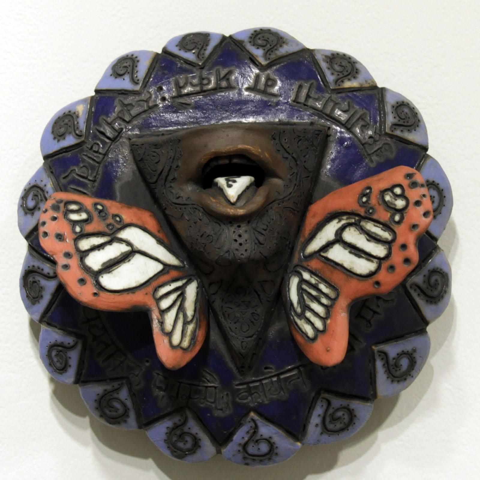 Visuddha   12 inches in diameter / ceramic and acrylic