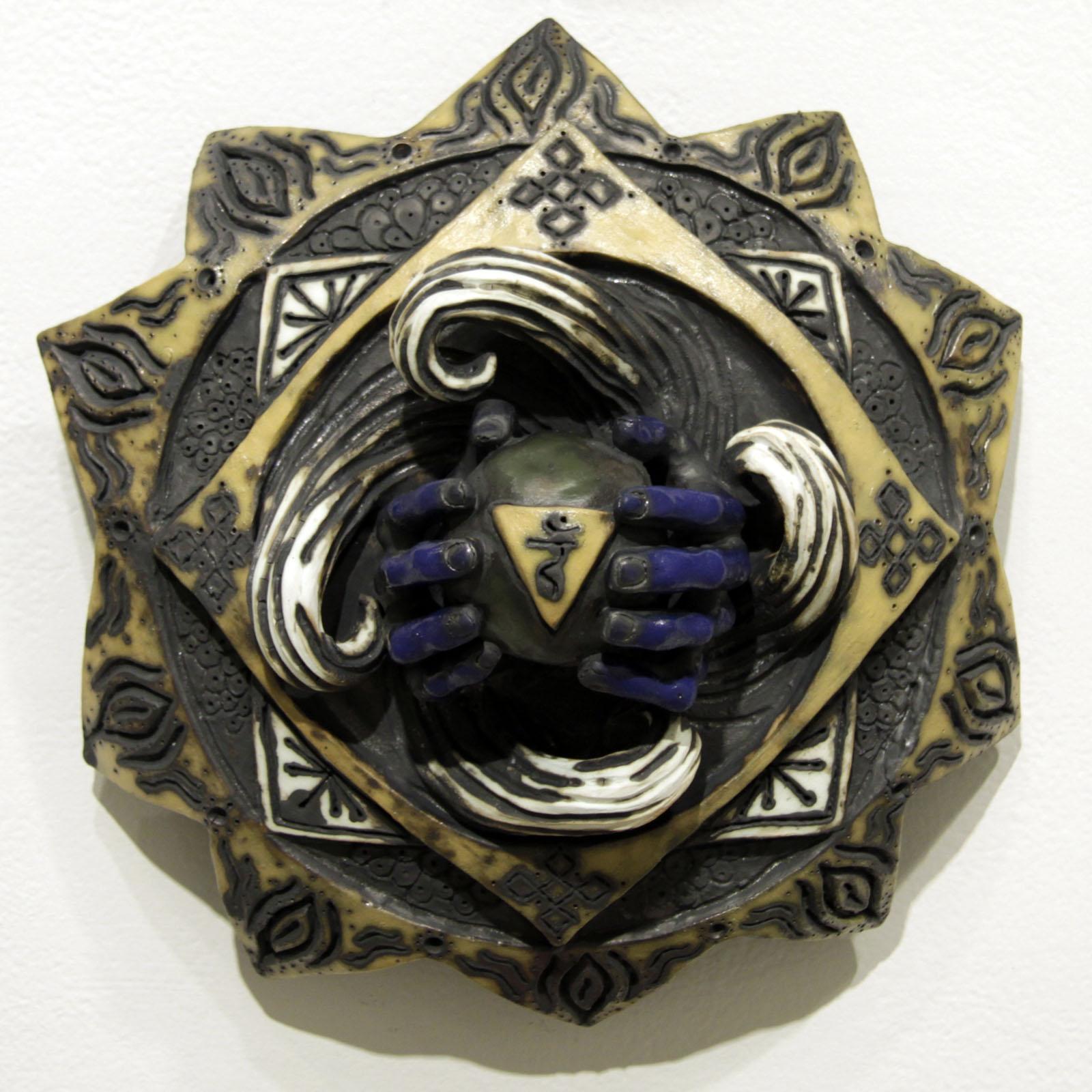 Manipura   12 inches in diameter / ceramic and acrylic
